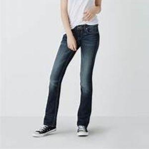 LEVI'S 525 blue jean denim straight leg size 14